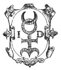 La monade hiéroglyphique, glyphe crée et commenté dans un livre qu'il publie en 1564.