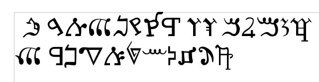 """<i>L'alphabet samaritain est l'alphabet utilisé par les Samaritains pour écrire les langues hébraïque, araméenne samaritaine (ou hébreu samaritain) et arabe. Bien que très souvent désigné comme un alphabet, c'est en fait un abjad, terme décrivant un système d'écriture ne notant que les consonnes de la langue (ou peu s'en faut), à la manière de l'écriture d'autres langues sémitiques.</i> —<a href=""""https://fr.wikipedia.org/wiki/Alphabet_samaritain"""" >Wikipédia</a>"""