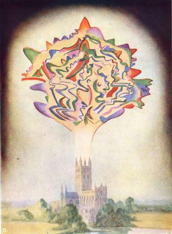 """«Musique de Gonoud», illustration d'un manuel de Théosophie de 1901 mettant en évidence les liens entre cette pensée et l'abstraction en peinture. <a href=""""http://www.gutenberg.org/files/16269/16269-h/16269-h.htm""""> Lien.</a>"""