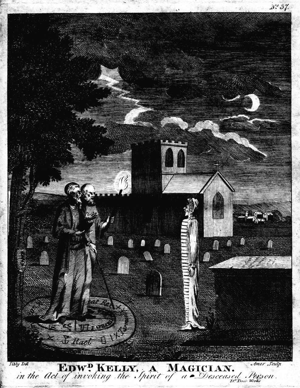 John Dee (1527-1609), intellectuel brillant de son temps, fit du trouble Edward Kelly (1555-1597), son médium pour parler aux anges et aux esprits en tout genre.