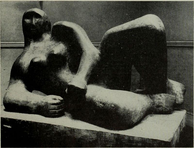 Henry Moore (1898-1986) est un sculpteur britannique dont les formes, souvent féminine, tendent vers l'abstraction.