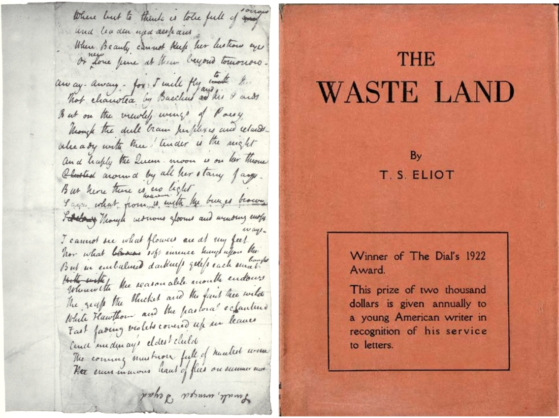 Endymion, 1818, John Keats vs The Waste Land, 1922, T.S.Elliot.