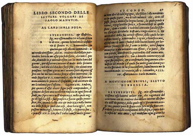 Au XVIe, après un litige entre Manuce et Griffo à propos de qui avait le droit d'exploiter les plombs de l'<i>italique</i> (Manuce les avaient commandés, Griffo taillés), ce dernier partit de Venise, pour finir condamné à mort après avoir tué son gendre avec un poinçon typographique.