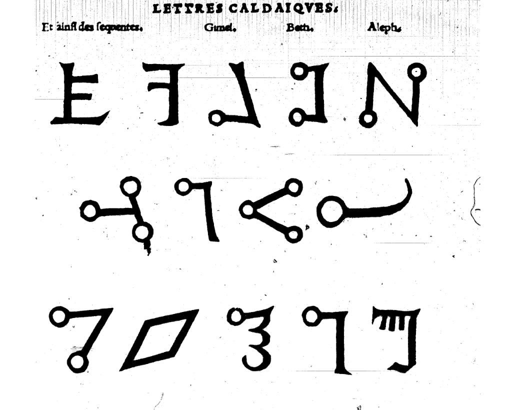 """Pour plus d'information sur cet alphabet esotérique, voir <a href=""""https://www.esoblogs.net/7002/alphabet-magique-du-transitus-fluvii/"""">ce court</a> article de Spartakus FreeMann"""